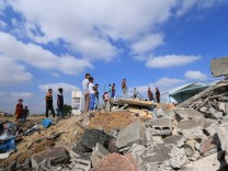 August 9 2018 Middle Of The Gaza Strip The Gaza Strip Palestine Damages after Israeli air st