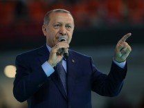Turkish President Erdogan makes a speech during a meeting of his ruling AK Party in Ankara