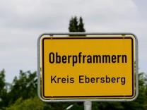 Ortschild Gemeinde Oberpframmern