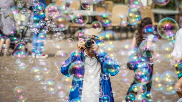 Foto mit Seifenblasen