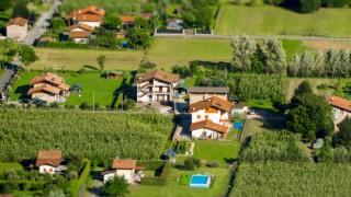 High Angle View Of An Idyllic Village