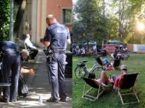 Nußbaumpark Brennpunkt Biergarten Polizei Obdachlose