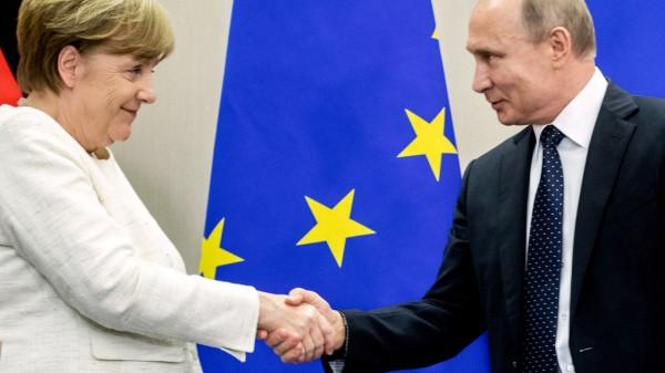 Bundeskanzlerin Merkel trifft Präsident Putin