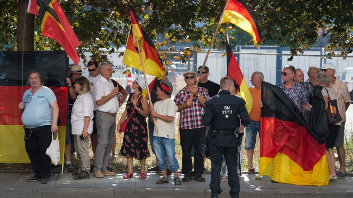 Pegida Demonstration Sachsen LKA