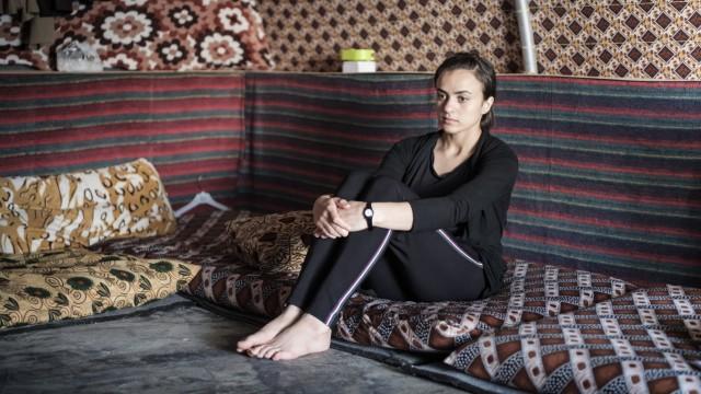 Jesidin Al-Dakhi Ashwaq, entführt vom IS