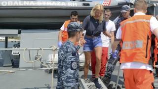Britische Touristin Kreuzfahrtschiff Kroatien Rettung