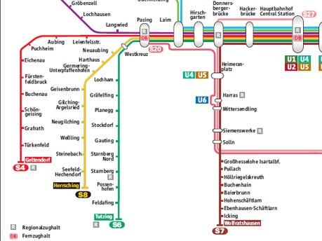 S Bahn Karte München.Münchner S Bahn Die Sieben äste Das S Bahn Netz S Bahn München