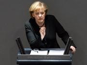 Merkel, Bundestag, Regierungserklärung, dpa