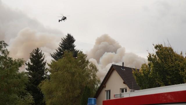 Waldbrand in Südbrandenburg