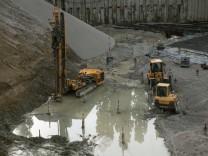 Baustelle am Alten Eiswerk in der Falkenstraße.