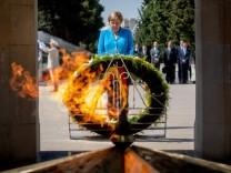 Bundeskanzlerin Angela Merkel besucht Aserbaidschan