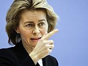 Familienministerin Ursula von der Leyen, AP