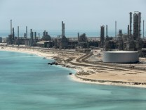 FILE PHOTO: General view of Saudi Aramco's Ras Tanura oil refinery and oil terminal in Saudi Arabia