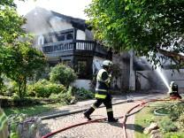 Feldafing: Hausbrand Lennestrasse