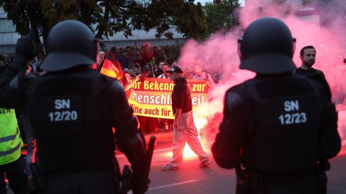 Chemnitz Demonstration Polizei