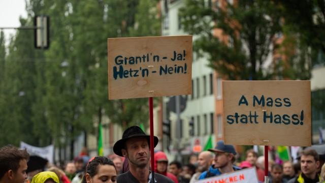 Demonstration In Munich Against CSU Party