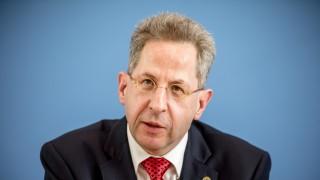 Hans-Georg Maaßen 2017 bei der Vorstellung des Verfassungsschutzberichts