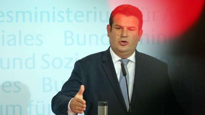 Pressekonferenz Hubertus Heil zu Rente