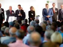 Saxony's state premier Michael Kretschmer meets residents for talks in Chemnitz