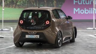 CEBIT 2018 weltgrößte IT Messe Hannover Stand des Elektroauto Herstellers e GO Mobile AG Teststr