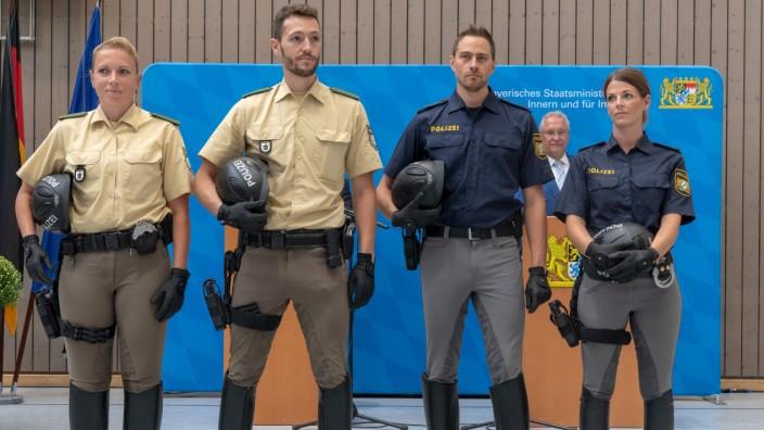 Neue Uniformen bei Bayerns Polizei und Justiz