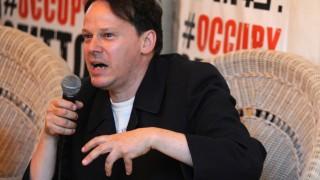 David Graeber Attends Occupy Movement Public Debate In Milan