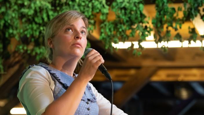 Die Spitzenkandidatin der Grünen, Katharina Schulze, auf dem Gillamoos.