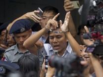 Reuters-Journalisten in Myanmar zu Haft verurteilt