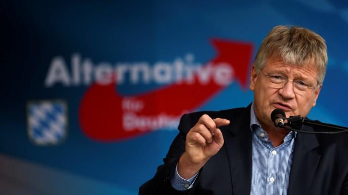 AfD-Chef Jörg Meuthen bei seiner Rede auf dem Gillamoos in Abensberg.
