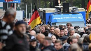 Demonstration in Chemnitz 2018 mit Beteiligung der AfD