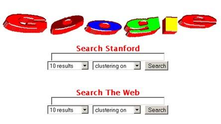 Google - Anfänge des Konzerns - alte Webseite
