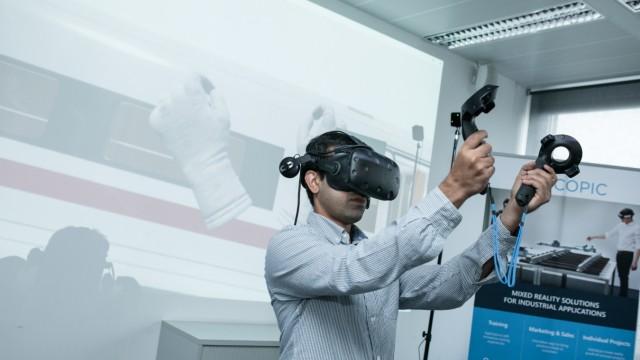 Virtual Reality bei der Bahn. Neues Lernen für DB-Mitarbeiter: Virtuale Realität bringt Züge und Weichen in den Schulungsraum