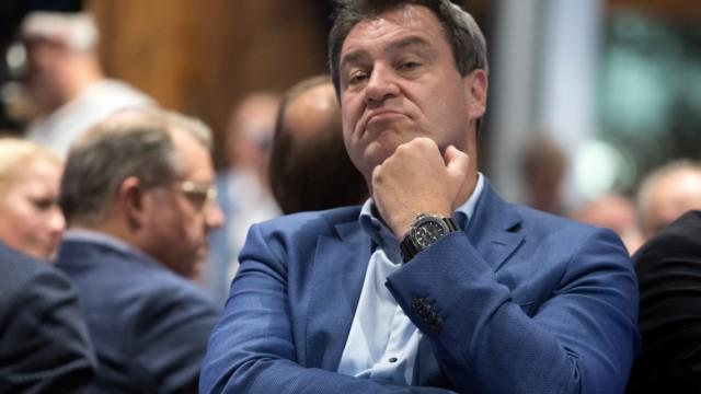 Markus Söder auf dem Bezirksparteitag der CSU München