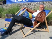 Matthias Helwig ganz entspannt; Matthias Helwig ganz entspannt