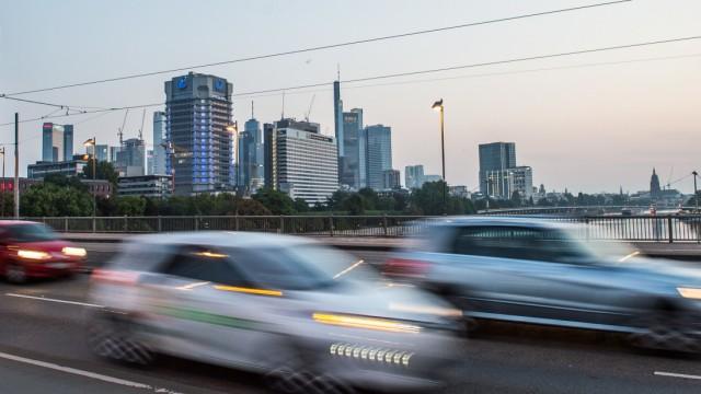 Berufsverkehr in Frankfurt am Main