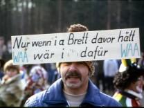 Wackersdorf: Rudolf Forster auf einer Demonstration gegen die Wiederaufbereitungsanlage