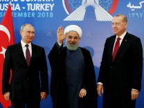 Syrien-Konferenz: Wladimir Putin, Hassan Ruhani und Recep Tayyip Erdoğan beraten in Teheran