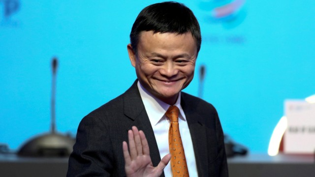 FILE PHOTO: Alibaba Group Executive Chairman Jack Ma gestures as he attends the 11th World Trade Organization's ministerial conference in Buenos Aires