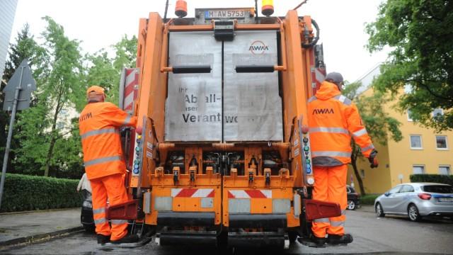 Die städtische Müllabfuhr des Abfallwirtschaftsbetriebs München