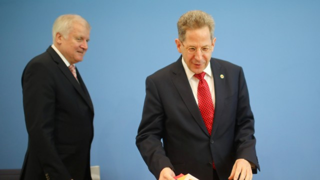 FILE PHOTO: German Interior Minister Seehofer and Maassen, President of the Federal Office for the Protection of the Constitution, attend a news conference in Berlin