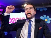 Jimmie Åkesson, Parteichef der Schwedendemokraten