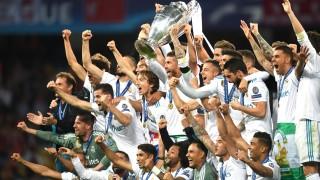 Real Madrid jubelt nach dem Champions-League-Finale gegen den FC Liverpool