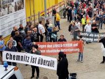 Rechte Kundgebung in Halle an der Saale