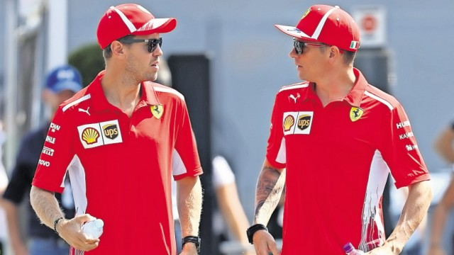 Formel 1: Die Ferrari-Piloten Sebastian Vettel und Kimi Räikkönen