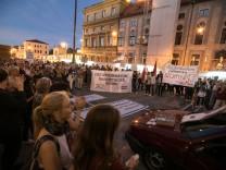 Demo gegen Afghanistan-Abschiebungen am Odeonsplatz