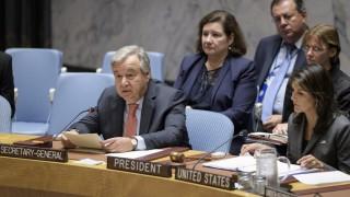UN-Generalsekretär António Guterres spricht 2018 im UN-Sicherheitsrat