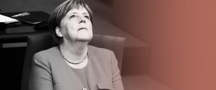 Bundeskanzlerin Angela Merkel im Deutschen Bundestag