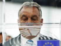 Viktor Orban im EU-Parlament in Straßburg