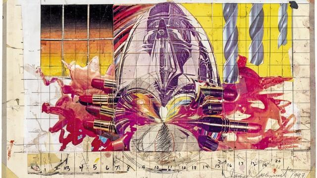 """Künstler I Artist: James Rosenquist  Titel I Title:  Study for """"The Swimmer in the Economist"""", 1996/97   The World on Paper - Sammlung Deutsche Bank"""
