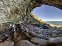 Caption: Blombos Cave Interior 360 Pano  Credit: Magnus Haaland